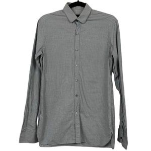 Lanvin Button Front Collared Shirt in Grey